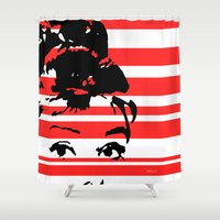 audrey Shower Curtains featuring Audrey by Heaven7