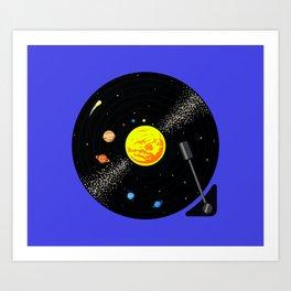 Solar System Vinyl Record Kunstdrucke