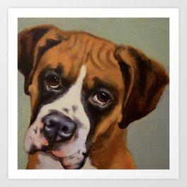 Rocky - Portrait of a dog Art Print