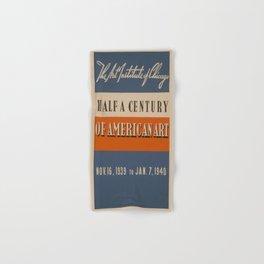 Vintage poster - Art Exhibit Hand & Bath Towel