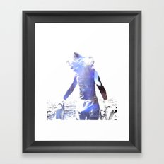 Girl in the sun Framed Art Print