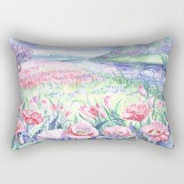 A field of summer flowers Rectangular Pillow