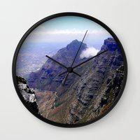 south africa Wall Clocks featuring South Africa Impression 4 by Art-Motiva