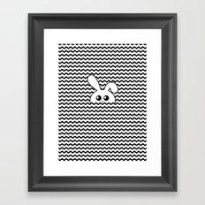 Curious bunny Framed Art Print