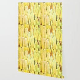 Pale Yellow Tulips Abstract Floral Pattern Wallpaper