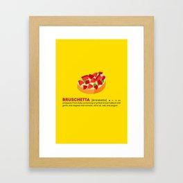 Bruschetta su Giallo Framed Art Print