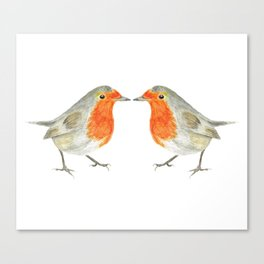 The 2 Robins Canvas Print
