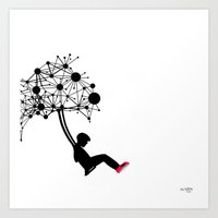 the Swingset Art Print