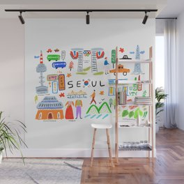 Colorful Seoul Wall Mural