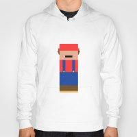 super mario Hoodies featuring Super Mario by Andrea Ramirez