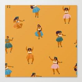 Hula party Canvas Print