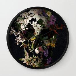 Spring Skull 2 Wall Clock