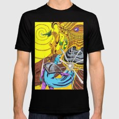 The Wizard 70's MEDIUM Black Mens Fitted Tee