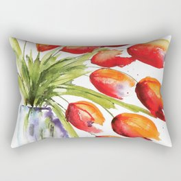Tulips Overflowing Rectangular Pillow