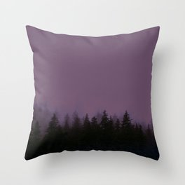 Alaska Fog 0388, EggPlant Throw Pillow