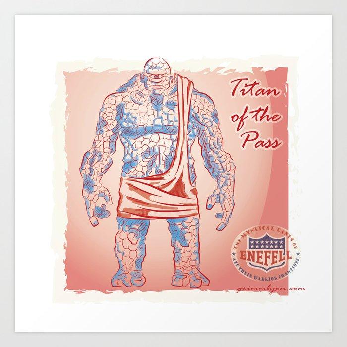 Titan of the Pass Art Print