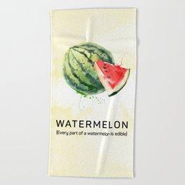 Fun with Fruits - Watermelon Beach Towel