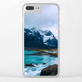 River Mountains Clear iPhone Case