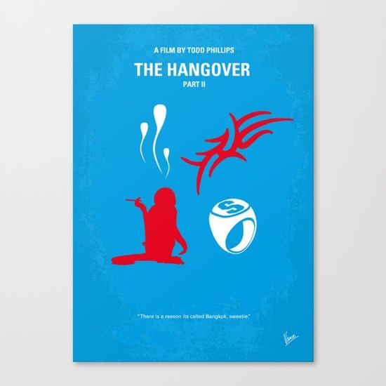 No145 My HANGOVER PART 2 minimal movie poster Canvas Print