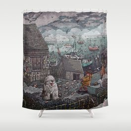 Home for the Harbor Shower Curtain