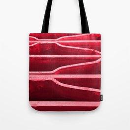 Red Metal Grate Tote Bag