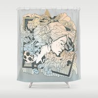 frames Shower Curtains featuring BROKEN FRAMES by Cassidy Rae Marietta