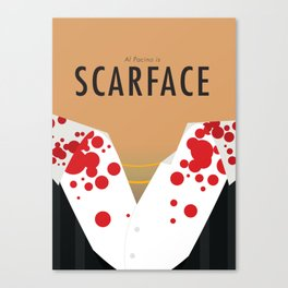 Scarface - Minimalist Poster Canvas Print