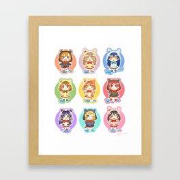 Rainy μ's Babies Framed Art Print