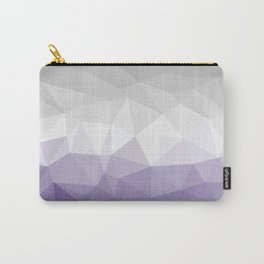 ultra violet and grey polygon Carry-All Pouch