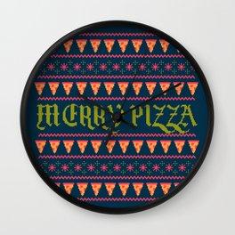 Merry Pizza Wall Clock