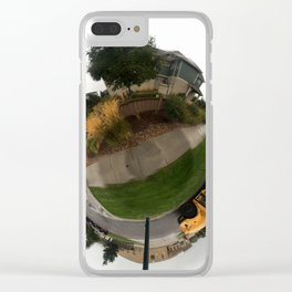 School Bus Planet Clear iPhone Case