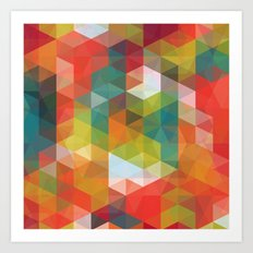Transparent Cubism Art Print
