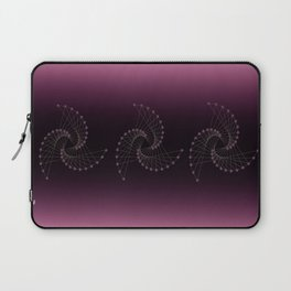 Swirl Sparkle on Burgundy Laptop Sleeve
