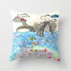 The Mermaid Of Zennor Throw Pillow