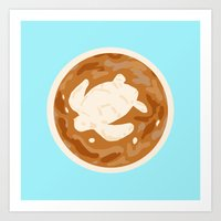 sea turtle Art Prints featuring Turtle by Nancy Smith