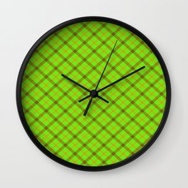 Plaid 1 Wall Clock