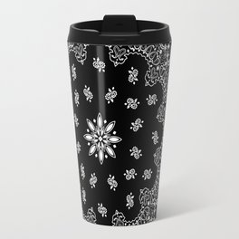 black and white bandana pattern Travel Mug