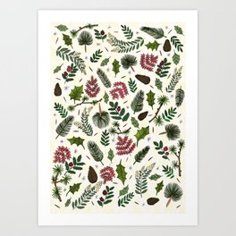 Winter Foliage Art Print