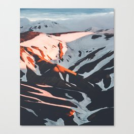 Golden Hour PNW Glacier Mountain Hike Canvas Print