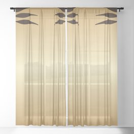 Golden Art nouveau Sheer Curtain