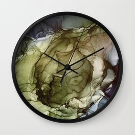Calm Nature- Earth Inspired Abstract Painting Wall Clock