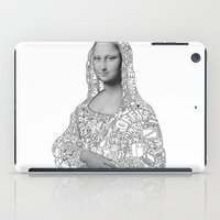mona lisa iPad Cases featuring Mona Lisa by nice to meet you