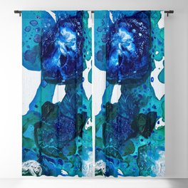 Polar Bear Swim, Environmental Tiny World Collection Blackout Curtain