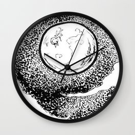 The Moon and Austrailia  Wall Clock