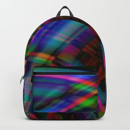 Symmetrical curved semicircles with a crisp heavenly accent and all the colors of the rainbow. Backpack