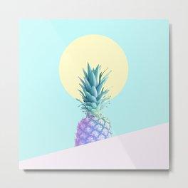 Tropical Pineapple Sunkissed #decor #popart #minimalist Metal Print