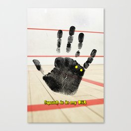 Squash is in my DNA Canvas Print