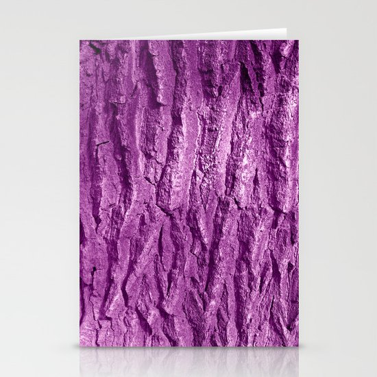 purple tree bark II Stationery Cards