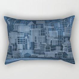 Submerged City Rectangular Pillow