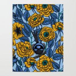 Wren in the roses Poster